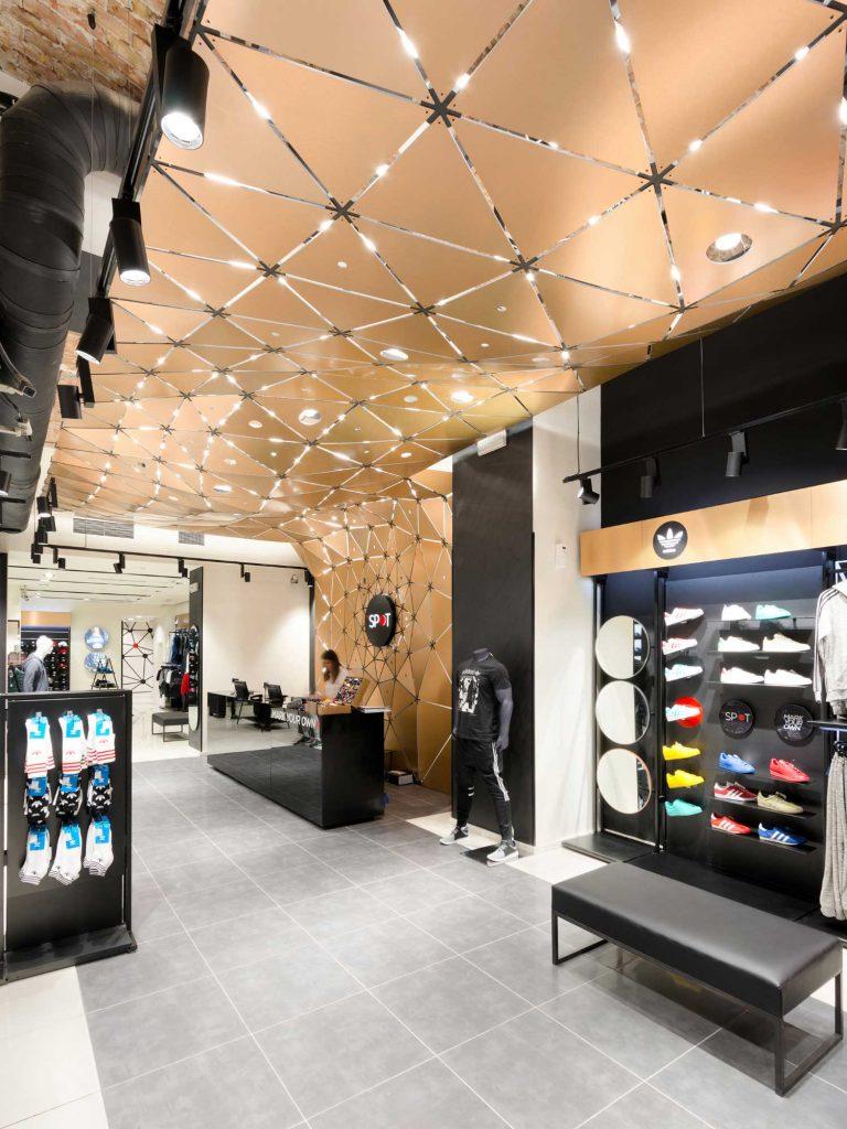 The Spot retail store- parametric design detail