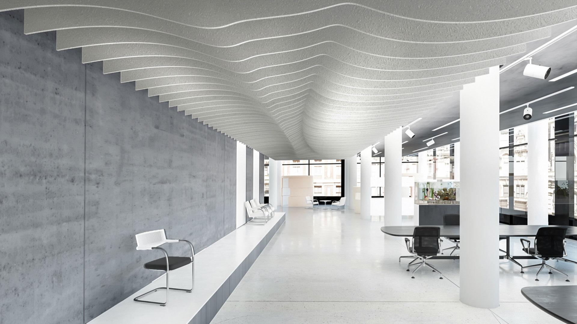 acoustic ceiling baffles 3d configurator